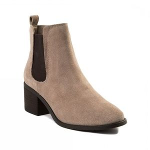 Madden Girl Taupe Camilla Chelsea Ankle Boots